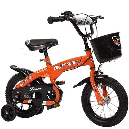 Elegante Bicicleta Infantil Minimalista / Naranja Intermitente Opcional Rueda Auxiliar Herraje De La Fila Posterior Hervidor De ...