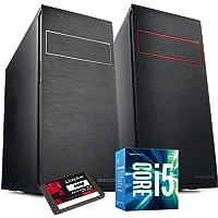 PC DESKTOP INTEL i5 7400 3,50 GHZ • GRAFICA INTEL® HD 630 • 8GB DDR4 • WINDOWS 10 PRO • 1TB HDD • SSD 240 GB • PC ASSEMBLATO PC FISSO DA UFFICIO CASA COMPLETO HD PRONTO USB 3.0 • CASE BLACK ELEGANTE