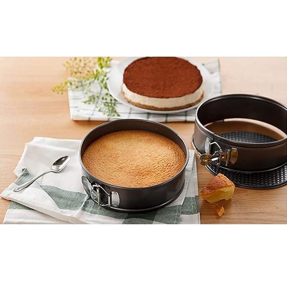 Molde para tartas Springform de 4 pulgadas, 7 pulgadas, 9 pulgadas, antiadherente, a prueba de fugas, redondo, con base extraíble para tartas: Amazon.es: ...