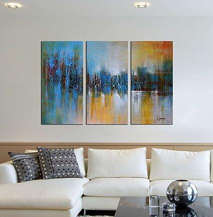Amazon.com: ARTLAND 100% Hand Painted Framed Modern Wall Art \
