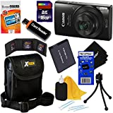 Canon PowerShot ELPH 190 IS Wi-Fi Digital Camera with 10x Zoom & HD video (Black) + NB-11L Battery + 8pc 16GB Accessory Kit w/HeroFiber Gentle Cleaning Cloth