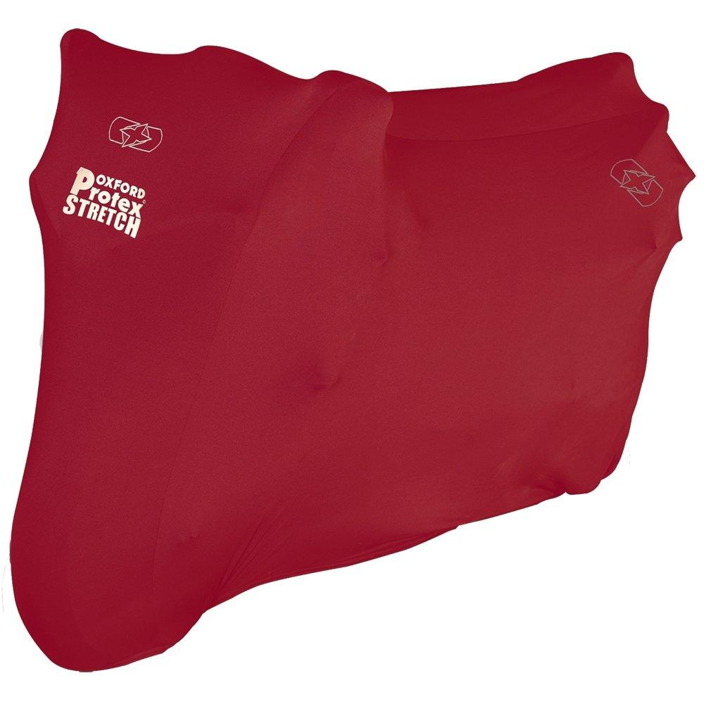 Oxford Protex Premium Housse De Protection /Élastique pour Moto Usage Int/érieur Rouge S