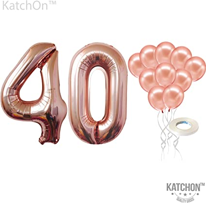 Giant 40th Birthday Party Number 40 Foil Balloon Helium Air Decoration Age 40