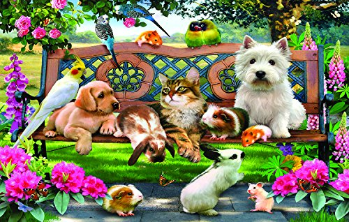 Park Bench Pals 100 Piece Jigsaw Puzzle by SunsOut