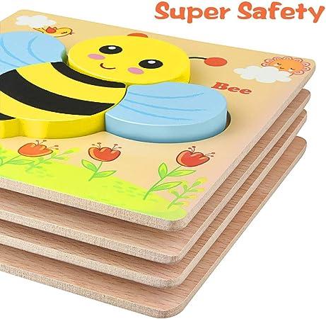 Amazon.com: WIKI rompecabezas de madera para niños, diseño ...