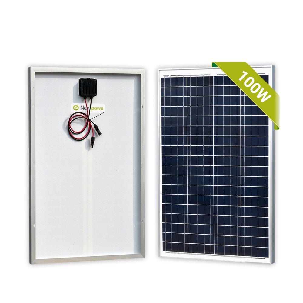Newpowa 100 Watts 12 Volts Polycrystalline Solar Panel 100W 12V High Efficiency Module Rv Marine Boat Off Grid by Newpowa