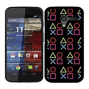 Funda carcasa para Motorola X diseño símbolos consola 2 borde negro