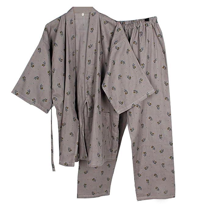 Traje de Pijamas de Traje de Pijamas Kimono de Estilo Japonés para Hombres - [Talla L, B]: Amazon.es: Ropa y accesorios