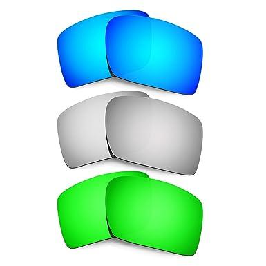50eb3bb7b5 Hkuco Replacement Lenses For Oakley Eyepatch 2 Blue Titanium Emerald Green  Sunglasses