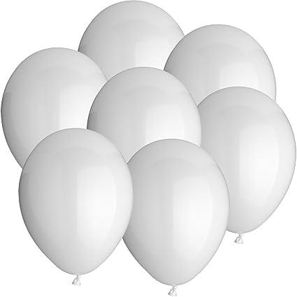 100x Rundballons WEISS Ø25cm + Geschenkkarte + PORTOFREI mgl. + Helium & Ballongas geeignet. High Quality Premium Ballons vom