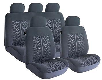 ROADMASTER TYRE TREAD DESIGN BLACK CAR SEAT COVERS