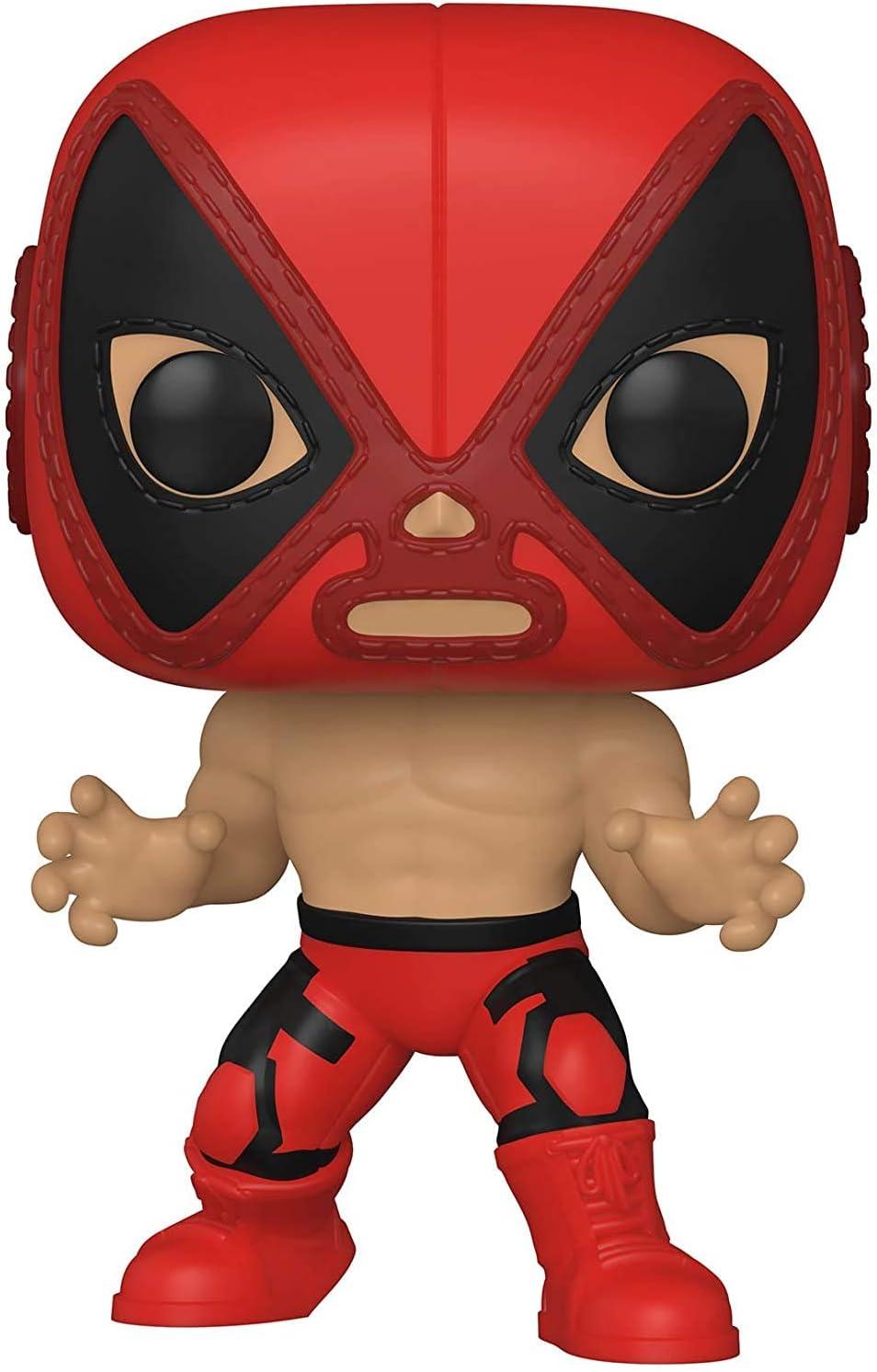 Captain Marvel Deadpool Funko Pop Hulk Venom and Wolverine Iron Man Marvel Lucha Libre Set of 7: Spider-Man
