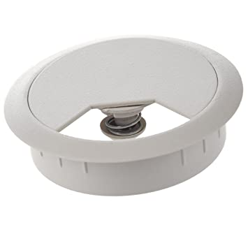 office desk cable hole. Plastic Computer Desk Grommet Cable Hole Cover Gray Office Desk Cable Hole Amazon UK
