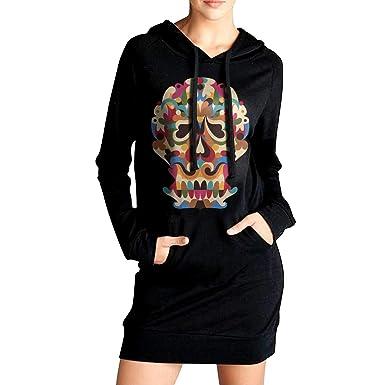 Amazon.com: Vestido con capucha para mujer, estilo casual ...