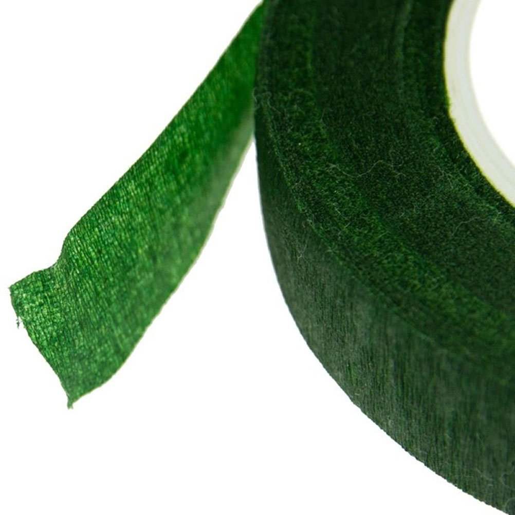 Green rosenice Tapes Floral Broad Adhesive Tape for Packaging for Bouquet Stem Wrap Tape