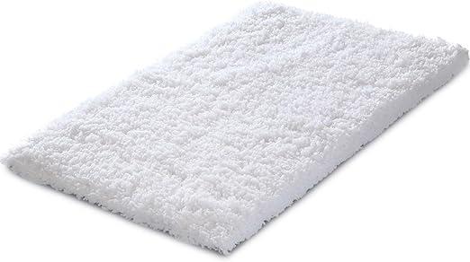 Bathroom Mat Plush Shaggy Pedestal Door Mat Non-Slip Washable Bedroom Soft Rugs