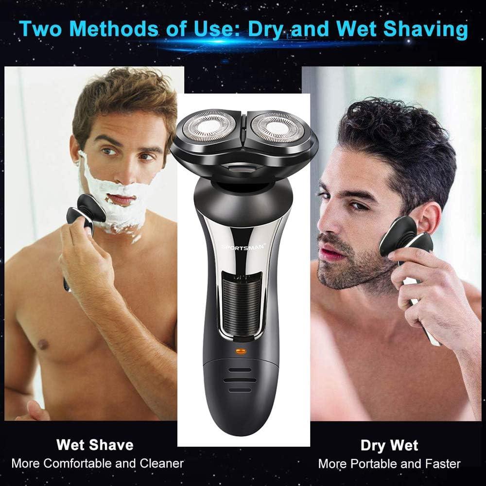 Anself Afeitadora Máquina de afeitar de barba multifuncional ...