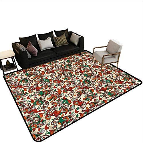 Dot Swirl Bath Rug - Paisley,Front Mat Home Decorative Carpet 60