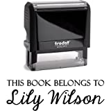 This Book Belongs To Personalized Self Inking Stamp Custom Teacher Student Children Gift Book Naming Library Customized Name Rubber Stamper Classroom Signature Stamper School Label …