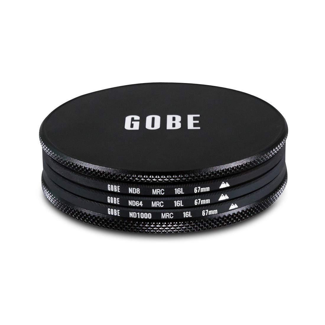 ND8 ND1000 Gobe ND Filter Kit 62mm MRC 16-Layer ND64