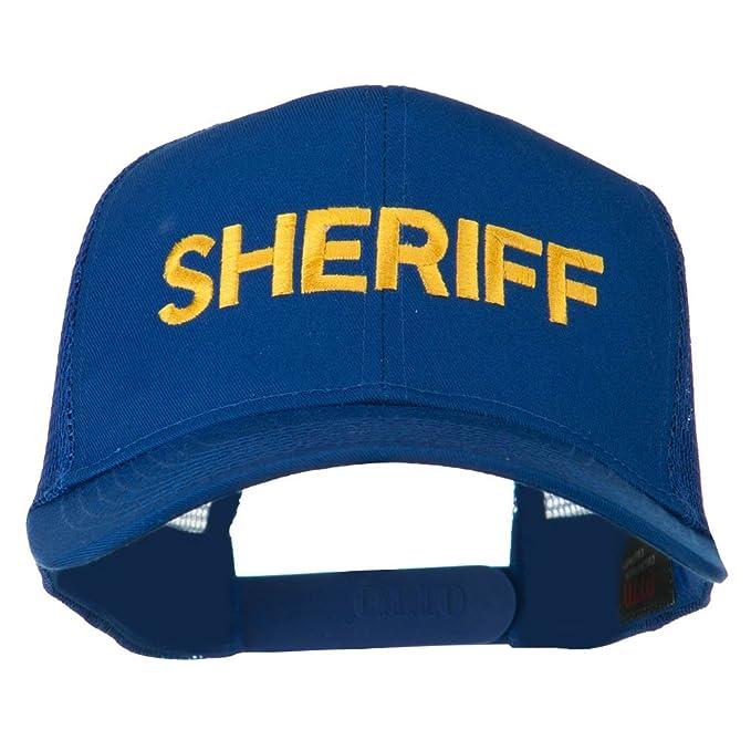 0b7cb9e529f E4hats Sheriff Embroidered Military Mesh Back Cap - Royal OSFM at ...