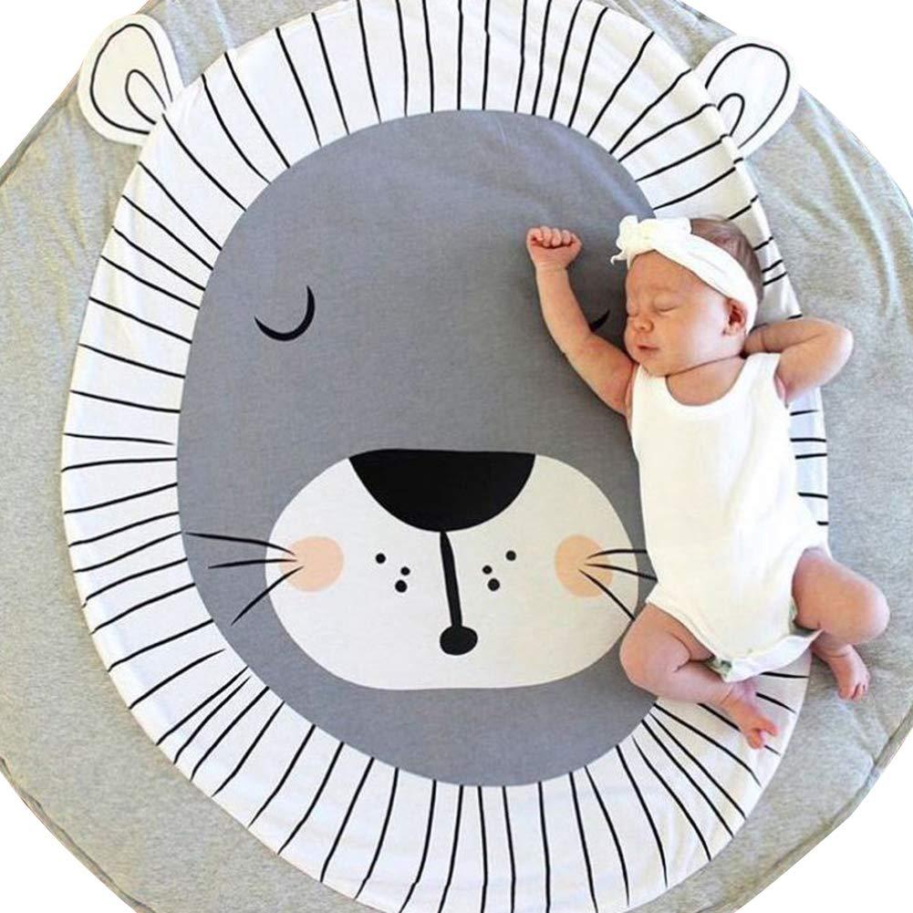 Cotton Panda Deer Round Baby Infant Play Crawling Mat Carpet Rug Room Decor Baby Mats for Playing Baby Floor Mat Bear *