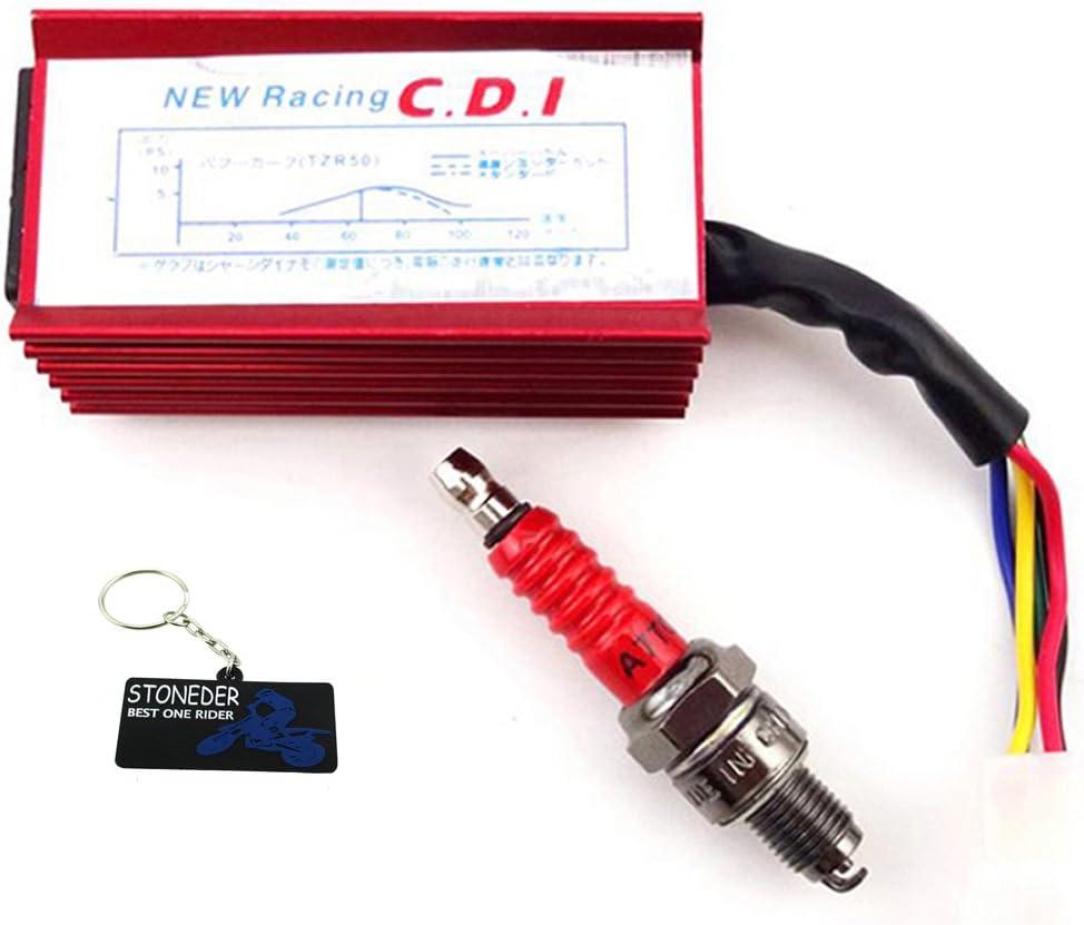 STONEDER Racing d accensione CDI candela per 50/cc 70/cc 90/cc 110/cc Loncin taotao ATV Quad