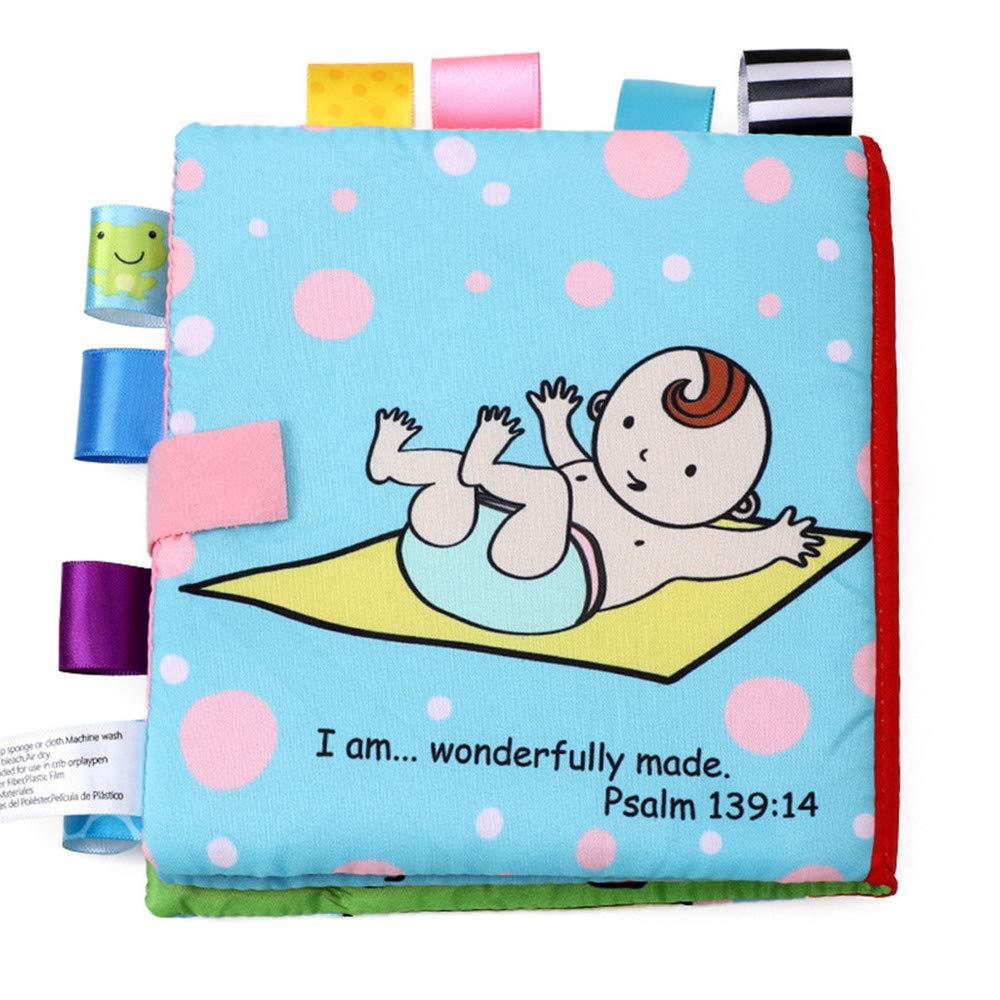 Juguetes para ni/ños Cebbay/Juguetes educativos Regalo del d/ía de los ni/ños,Baby Animals Puzzle Lovely Cloth Book Baby Toy Cloth Cloth BB Sound Books