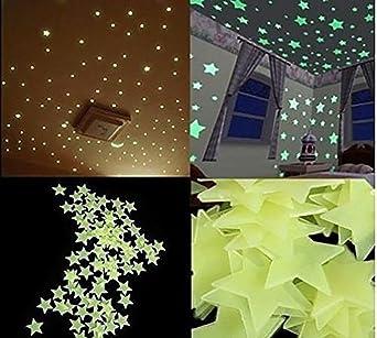 200 Pegatinas De Pared Para El Hogar Brillan En La Oscuridad Pegatinas Para La Habitación De Los Niños Diy Adhesivo De Pared Verde Claro Plástico Luminoso Pegatinas De