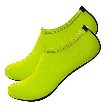 monicanine hombre mujer verano playa zapatos de agua buceo deporte calcetines Zapatillas sandalias calzado piel pies