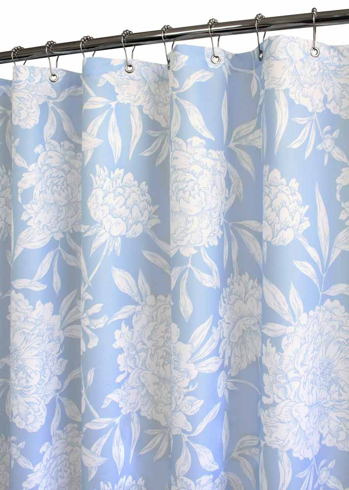 Blue And White Shower Curtain Navy Blue White Damask