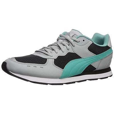 PUMA Vista Sneaker, high Rise Black-Blue Turquoise, 10.5 M US | Fashion Sneakers