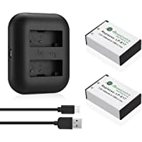 Powerextra 2 Pack Replacement Canon LP-E17 Battery High Capacity 1350mAh With Dual USB Charger for Canon EOS M3, EOS…