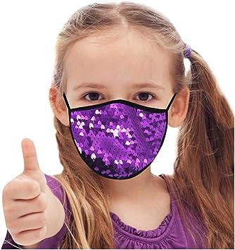 Fenverk Kinder Mundschutz Weihnachten Motiv Mundnasenschutz Pailletten Glitzer Muster Mund Nasenschutz Waschbar Wiederverwendbar Mund Nase Staubschutz Atmungsaktiv Multifunktionstuch Unisex