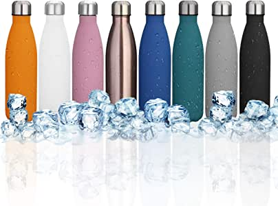 KINGSO 17oz Double Wall Vacuum Cool Insulation Stainless Steel Water Bottle Leak- Proof No Sweating Perfect Summer Outdoor Sports Camping Hiking Cycling