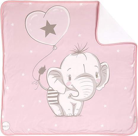 Arrullo para bebé estampado punto de algodón (80 x 80 cm) ELEFANTINO ROSA: Amazon.es: Bebé