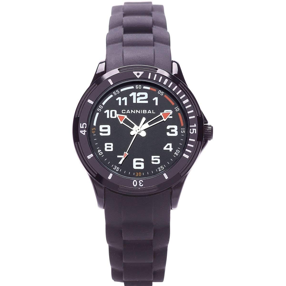 Cannibal Active Black Silicone Strap Boy's Analogue Watch CJ219-03