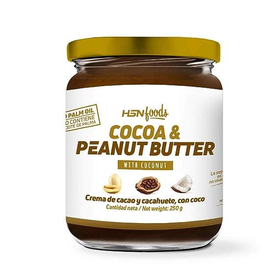 Crema de Cacao con Cacahuete y Coco de HSN Foods | 100% Natural | Cocoa