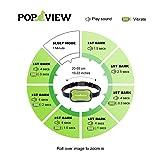 POP VIEW Dog Bark Collar Small, Medium, Large Dogs, Anti Bark Collar Sound Vibration, No Shock, Harmless & Humane