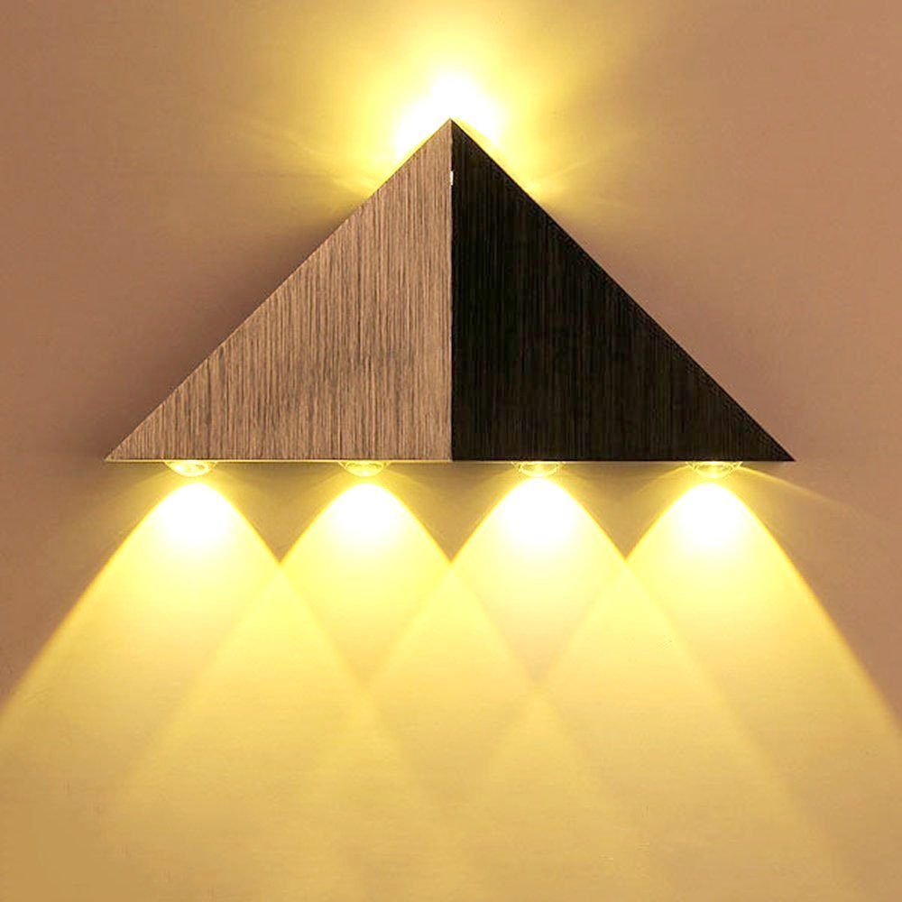 Lemonbest Modern Triangle 5W LED Wall Sconce Light Fixture Indoor ...