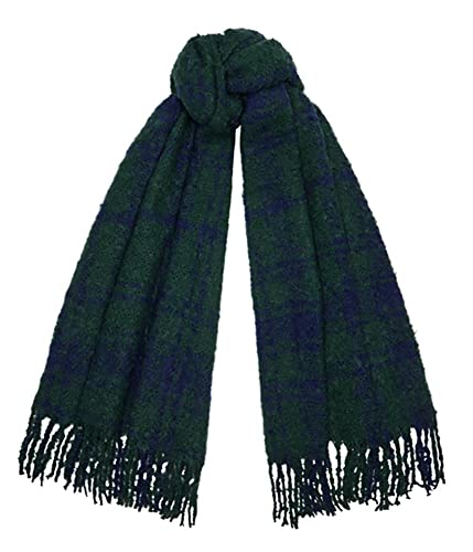 Tartan Traditions Blackwatch Tartan Boucle Large Blanket Scarf