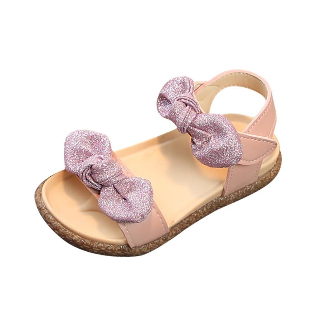 Huhu833 Babyschuhe Kinder Baby M/ädchen Bling Bling Bowknot Sandalen Rutschfeste Prinzessin Sandalen Freizeitschuhe