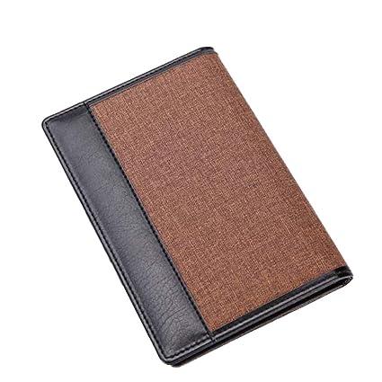 0a577a4d28e1 Amazon.com: Men Retro Faux Leather Travel Passport ID Card Holder ...