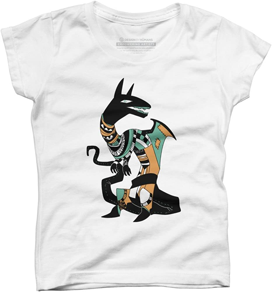 Patchwork Dragon Girls Youth Graphic T Shirt Design By Humans
