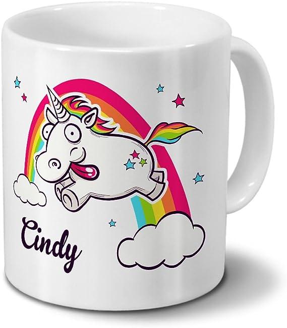 Tasse mit Namen Cindy Chrom-Schriftzug