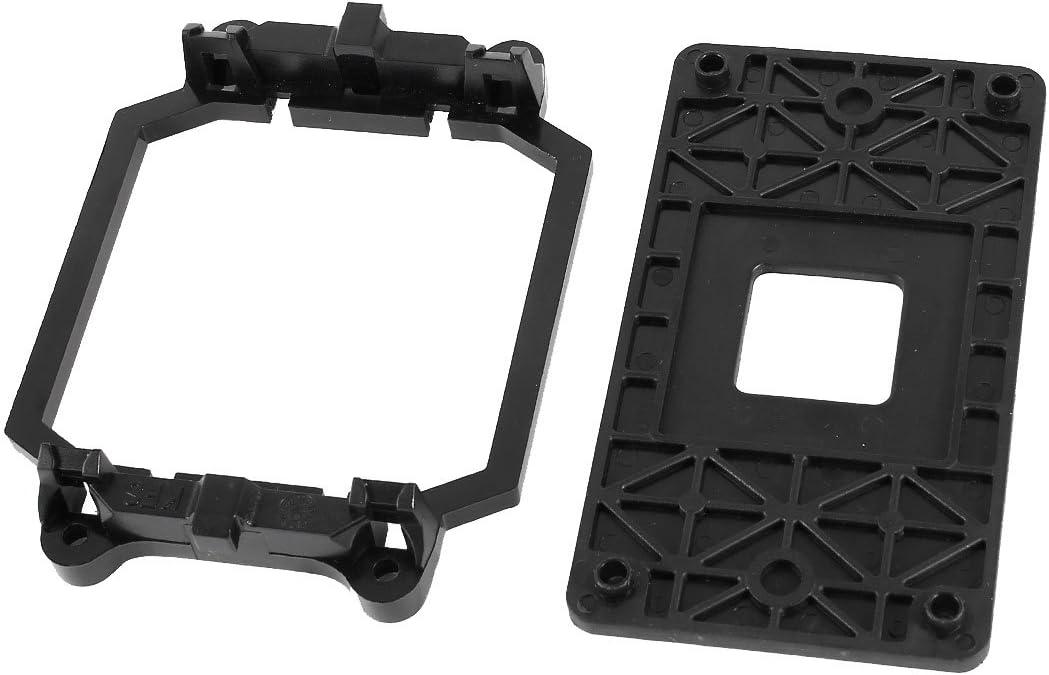 sourcing map Base de Soporte de Pie de Ventilador AMD CPU de Plástico Negro para Enchufe AM2 AM3