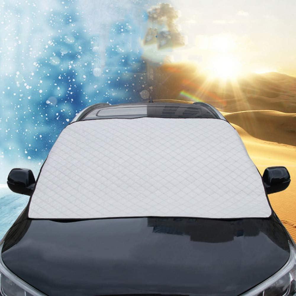 Feste Falten UV-best/ändig Windschutzscheibe f/ür Schnee Staub Frost OSJDFD Auto-Frontglas Sonnenschutz Saugnapf Abdeckung Schnee Anti-EIS-Abdeckung staubdicht regendicht Magnetabdeckung Sonne