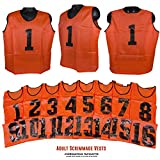Predator Sports Two Tone Adult Athletic Scrimmage Vests # 1-16 (Adult, Safety Orange)