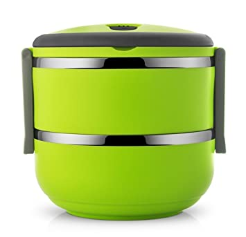 2 Layer Lunch Box Picnic Food Container Tiffin Hot Box Vaccum Insulated with Handle(Green  sc 1 st  Amazon India & Buy 2 Layer Lunch Box Picnic Food Container Tiffin Hot Box Vaccum ... Aboutintivar.Com