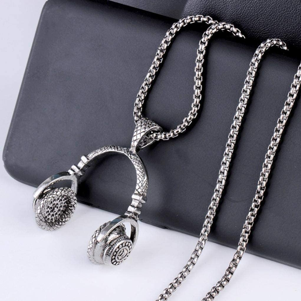 Gahrchian Long Alloy Necklace Women Mens Hip Hop Punk Pendant Necklace Perect Gift for Brother Boyfriend Birthday